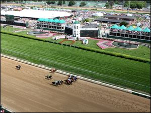 Churchill Downs in Louisville, Ky., is the site of tremendous fashion as well as horse racing.