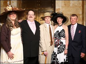 Denise Blissard, from left, Jeffrey Barhs, Brian Bahrs, Julie Champa, and Jim Dowlins at the Toledo Museum of Art's Derby party.