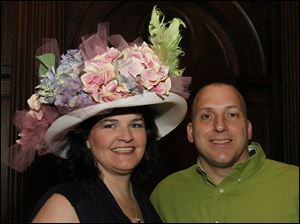 Julie and Tom Dangelo usher in spring and celebrate the Kentucky Derby at the Kwinnas Derby Party at the Toledo Club.