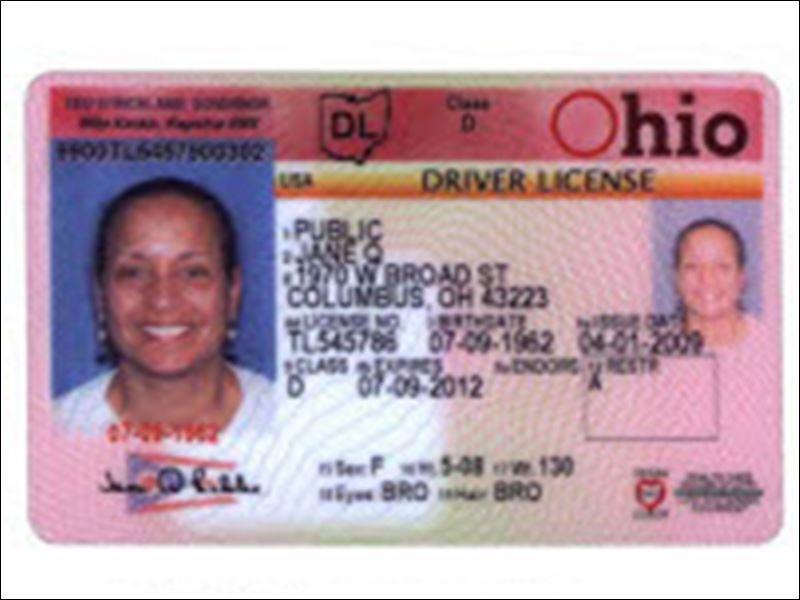 Free Ohio Drivers License Template - crisefriends