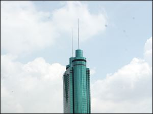 The Empire Building in Shenzhen, China, was developed by Wu King Hung, co-owner of The Docks in Toledo.