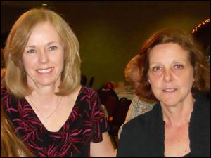 Lynn Langel, left, and Laurie Neary of the Women Blessing Women Board of Trustees.