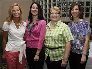 Marcy Stawinski, from left, Cassie Roman, Barb Christensen, and Melanie Ogrodowski at Girls Night Out.