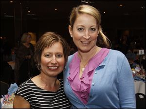Josie Langsdorf, left, and Brenda Kerr at Girls Night Out.