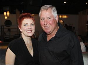 Mark and Cheryl Fisher at the On the Fringe party and fashion show at the Omini Event Center in Toledo.