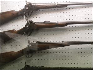 Civil War era sniper rifles at  the Seneca County Museum. Commissioners announced last week that they will close and sell the museum and sell everything in it.