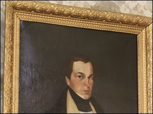 Painting of Edward Tiffin the Seneca County Museum. Commissioners announced last week that they will close and sell the museum and sell everything in it.