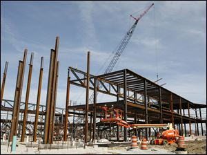 Part of the Stroh Center under construction at Bowling Green State University, March, 2010.