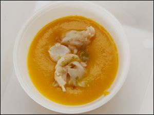 Chef Celina Tio's spicy carrot soup.