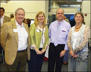 From left, Mike Anderson, Nancy Ems, David Justus, and Carol Anderson at Claire's Night sponsored by The Andersons.