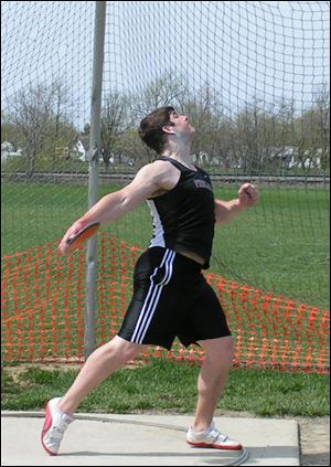 Derrick Vicars posted a throw of 173-01 to win the NCAA championship in discus as a sophomore at Findlay last season.