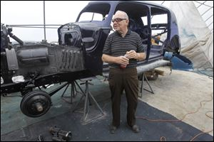 Jerry Brummett, 71, says he bought the 1940 Packard Super 8 Formal Sedan five decades ago.