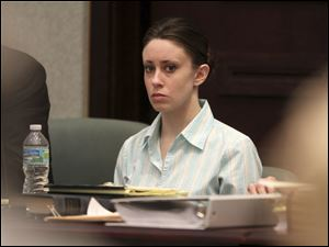 Casey Anthony appears in court during her trial. Anthony is charged with murder in the 2008 death of her daughter Caylee.