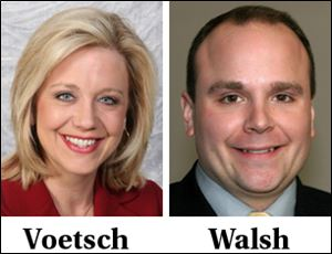 WTOL's Melissa Voetsch and Jonathan Walsh will co-anchor the morning 4:30 to 7 a.m. newscast.