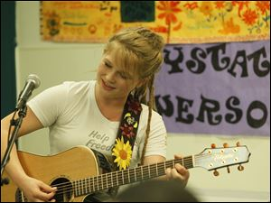 Crystal Bowersox performs at St. Paul's Community Center.