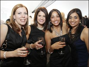 Dakota Husain, Jennifer Vicente, Muna Joshi, and Amy Choksey at Taste of the Nation.