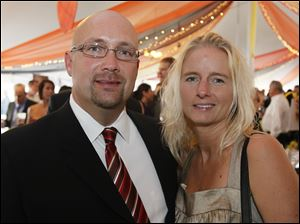 John Oehlers and his fiance Laura Seifert at Taste of the Nation.