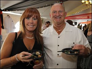 Kathy Cortese and Mike Scott at Taste of the Nation.
