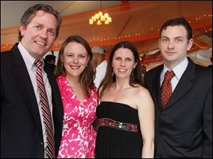 Stephen Stoll, Tara Stoll, TaraGay Walsh, and Michael Walsh at Taste of the Nation.