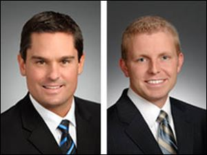 Chad Sokol, leftl, is leaving WTVG Channel 13. Dave Holmes, right, will be promoted to replace the sports director.