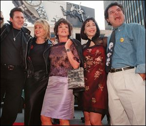 "Original ""Grease"" movie cast members, from left,  Jeff C"