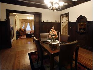 The dining room in the home of Brian Frauenknecht and Jarid Fitch.
