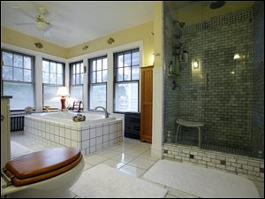 The master bathroom in the home of David Youngman and Kathy Crawford.