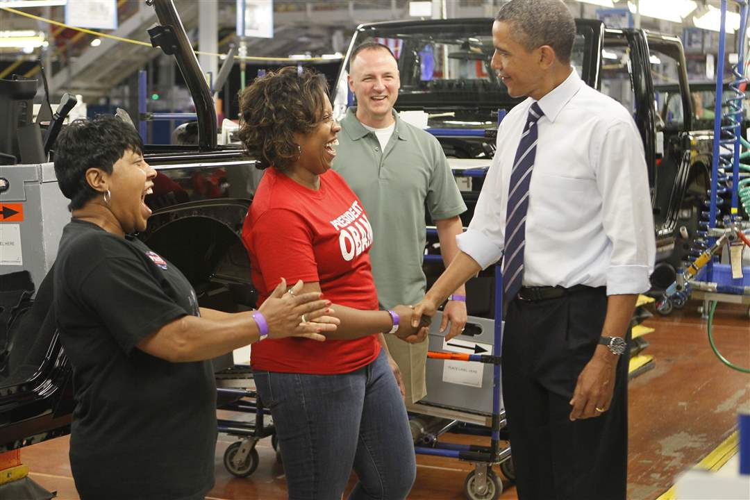 President-Obama-Merle-Stokes-Nicole-Jones-Jeep-plant