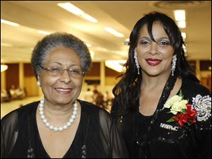 Wilma Brown, left, and Denise Black-Poon at the 47th Annual Debutante Cotillion.