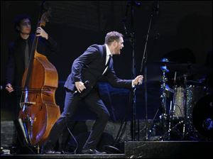 Buble gives props to his drummer.