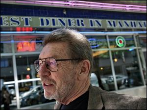 Author Pete Hamill at the Skylight Diner in New York in this 2007 file photo.