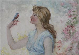 "Detail of  ""The Blue Bird,"" 1914."