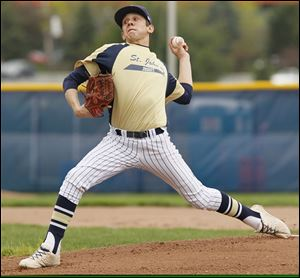 Jesse Adams was 10-0 with a 0.99 ERA for St. John's this season. He also led the City League with a .507 average.