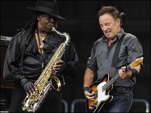 U.S. rock singer Bruce Springsteen, right, and saxophonist Clarence Clemons  perform during a 2009 concert.