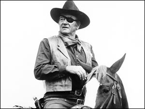 John Wayne appears in a scene from 'True Grit.'
