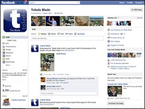 The Blade's Facebook page helps the newspaper connect to its readers.