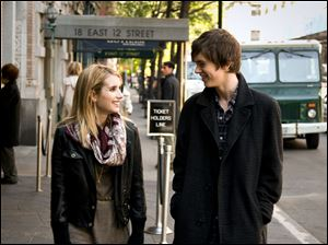 George (Freddie Highmore), a lonely and fatalistic teen, is befriended by Sally (Emma Roberts), a beautiful classmate, in 'The Art of Getting By.'