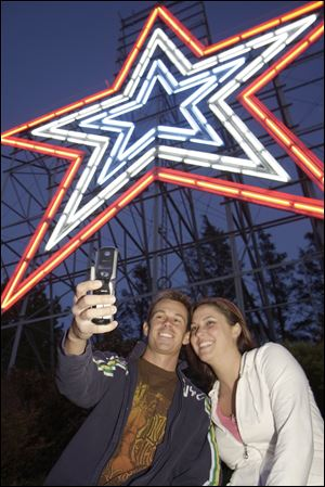 The Roanoke Star, also known as the Mill Mountain Star, is the world's largest freestanding illuminated man-made star, constructed in 1949 at the top of Mill Mountain.