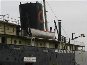 The Willis B. Boyer is being restored by workers from P & W Painting Contractors Inc. to recreate the Great Lakes freighter the S.S. Col. James M. Schoonmaker out of the S.S. Willis B. Boyer.