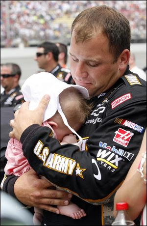 Ryan Newman spends some Father's Day time with 8-month-old daughter Brooklyn Sage.