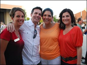 Megan Meyer-Foos, John Mangas, Aniata Lopez, and Miranda Jarouche at Summerfest.