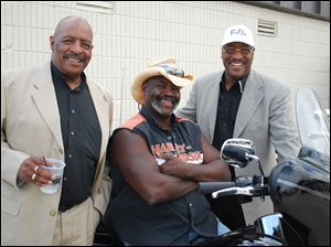 Pete Culp, Mayor Mike Bell, and Calvin Lawshe at Summerfest.
