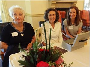 Sue Lovett, Bridget Holt and Claudia Stein at the