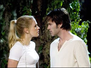 Anna Paquin and Stephen Moyer in 'True Blood.'