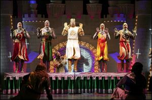 Monty Python's 'Spamalot' based on the film classic 'Monty Python and The Holy Grail' comes to the Stranahan Oct. 13.