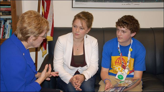 Local teen, Bowersox attend diabetes conference in D.C. U.S. Rep. Marcy Kaptur, left,  meets with Crystal Bowersox of  'American Idol' and William Beebe, 14, who has Type 1 juvenile diabetes. William is a delegate to the 2011 'Children's Congress' on diabetes.