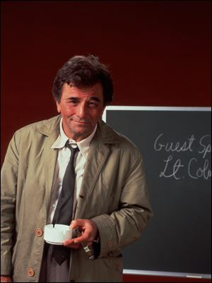 Peter Falk in the role of Lt. Columbo.
