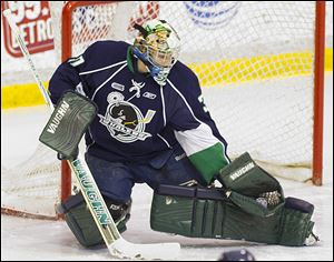 Matt Mahalak, a Monroe, Mich., native and goalie for the Plymouth Whalers of the OHL will hopes to be taken in the 2011 NHL Draft.