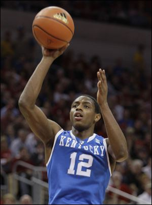 Kentucky's Brandon Knight, eighth pick overall, was chosen by the Detroit Pistons.
