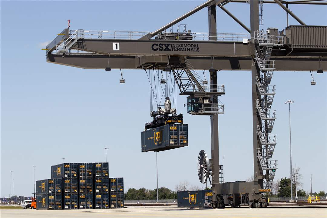 CSX-intermodal-crane-demonstration